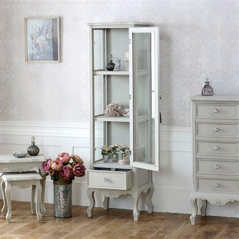 Bedroom Cabinets Grey by Elise Grey Range Glazed Display Cabinet Flora