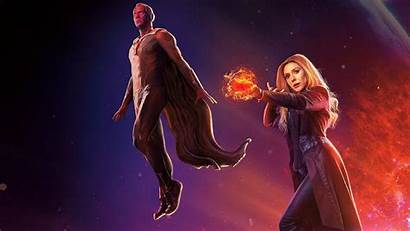 Scarlet Witch Vision Wallpapers Avengers Infinity War