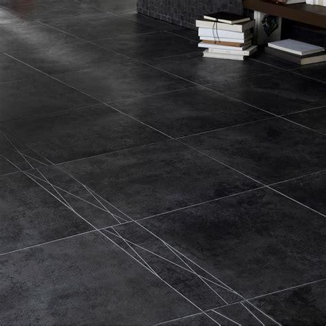 carrelage sol et mur noir effet b 233 ton factory l 45 x l 45 cm leroy merlin