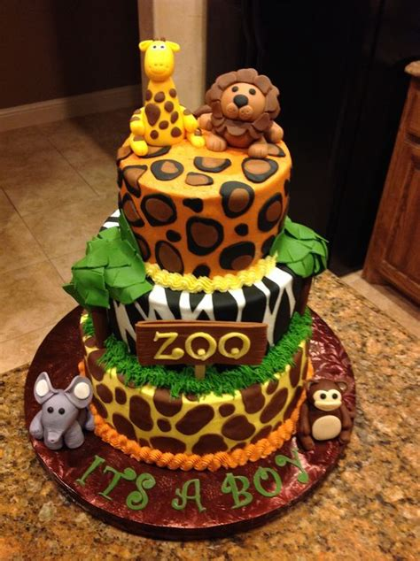 Zoo Themed Baby Shower Cake!  My Cakes Pinterest