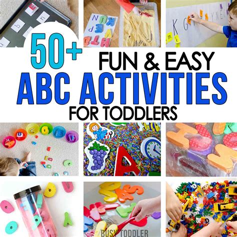50 alphabet activities for toddlers busy toddler 252 | SQUARE