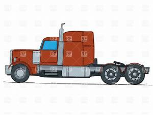 Semi Truck Side View Drawing   Amazing Wallpapers
