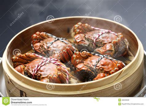 cuisine chinoise vapeur cuisson à la vapeur des crabes velus de changhaï cuisine