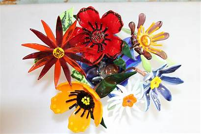 Glass Flowers Fused Studio Creative Artglass Mentve