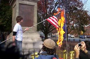 Image result for burning the American flag