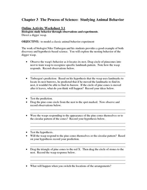 13 best images of animal behavior worksheet animal adaptations worksheets high school animal
