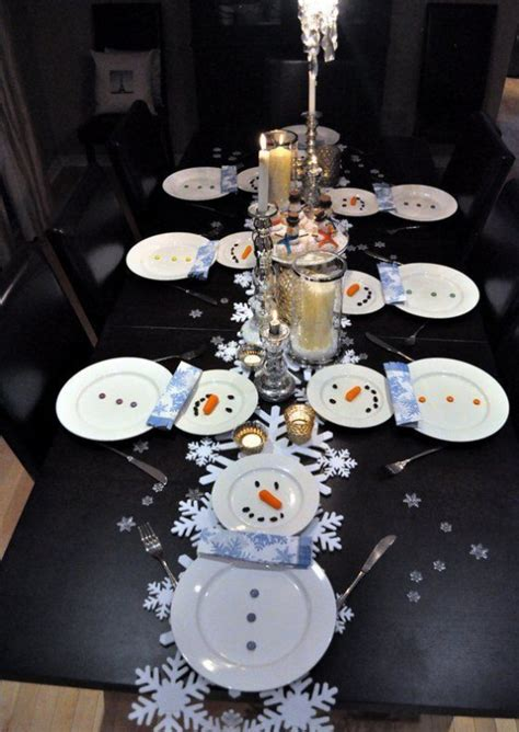 table decorations for january 29 fun snowman christmas decorations for your home digsdigs