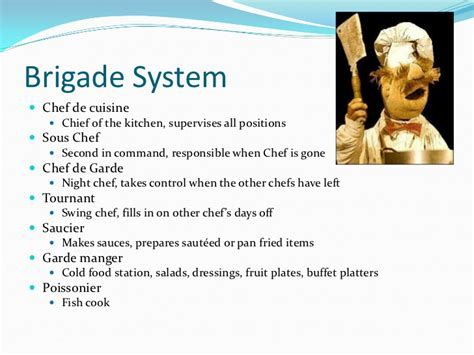 brigade cuisine workstations in the professional kitchen