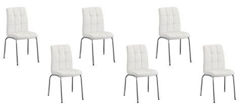 lot de 6 chaises blanches vente de chaises capitonnée par lot de 6 garantie 2 ans