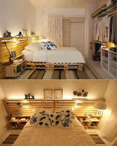 deco chambre à coucher récup palettes 34 chambres à coucher la tête de lit