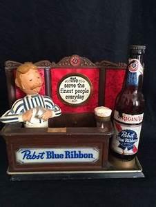 PABST BLUE RIBBON BEER SIGN VINTAGE 1980 s Bar Man Cave