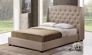 Tufted Platform Wingback Bed Groupon