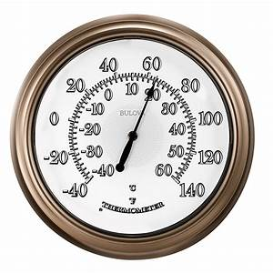 Lighted Thermometer Temp-A-Light Indoor / Outdoor Lighted
