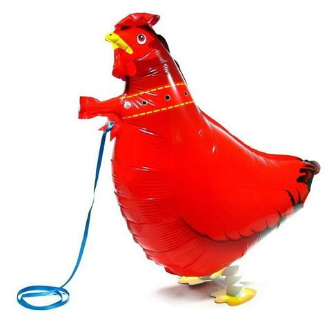 chicken walking balloon pet animal helium airwalker