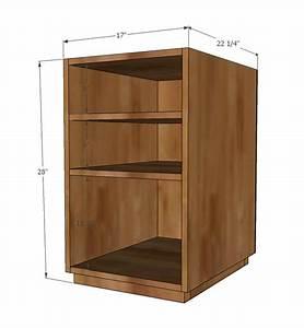 Ana White | Eco Office Open Shelf Base made with PureBond ...