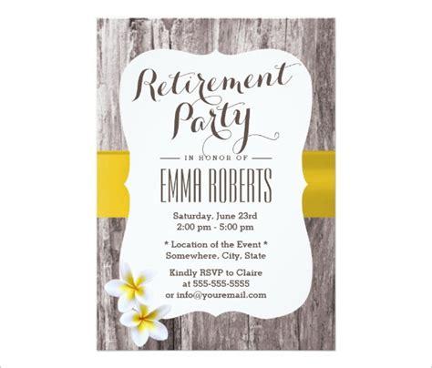 business retirement party invitation