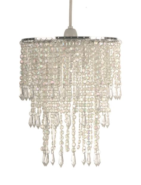 easy fit unique beaded ceiling light l shade vintage