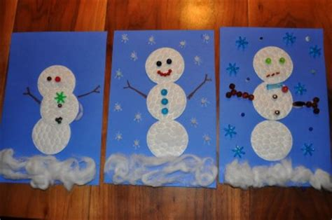 cotton rounds snowman fun family crafts