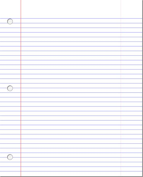 lined paper templates excel  formats