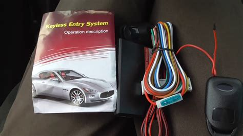 Car Keyless Entry System (components, Manual, Partial Test