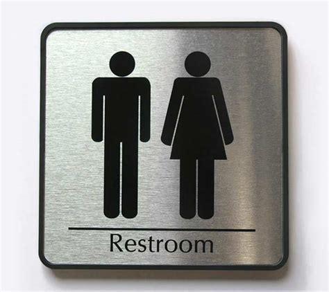 Mens Restroom Sign  Womens Restroom Signs Family