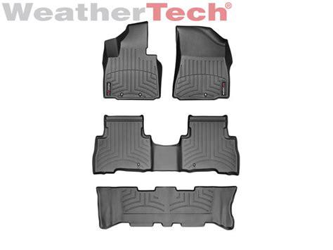 weathertech floor mats kia sorento weathertech floor mats floorliner for kia sorento w 3rd row 2014 2015 black ebay