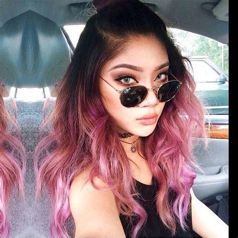 color atmarycake hair purple  fades pink