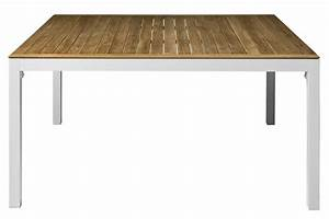 Table 140 Cm : thalideux table 140 x 140 cm teck top teak top white painted aluminium by driade ~ Teatrodelosmanantiales.com Idées de Décoration