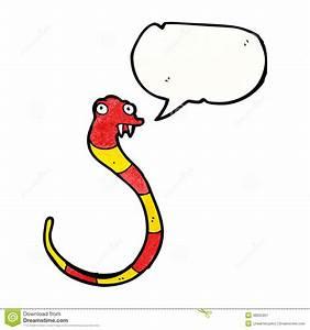 Funny cartoon snake stock vector. Illustration of speech ...