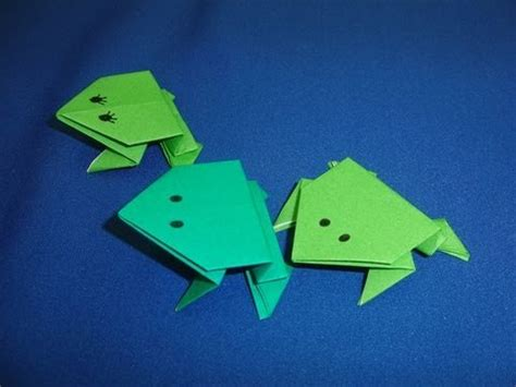 action origami jumping frogs youtube