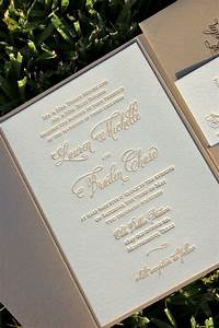 fawn and champagne wedding invitation letterpress wedding With letterpress wedding invitations melbourne australia