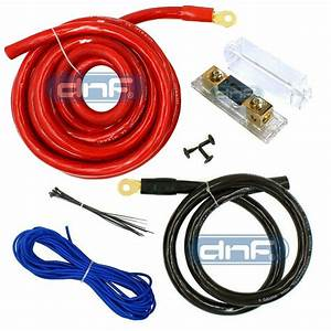 0 Gauge Power Amp Kit Amplifier Wiring Install 6000w