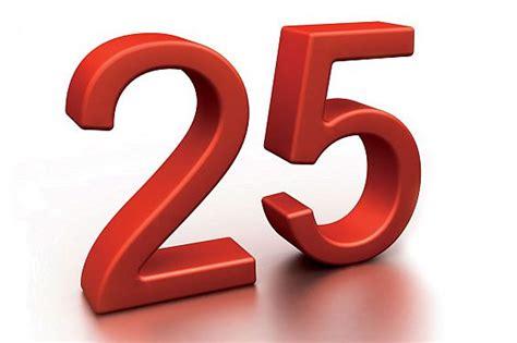 Twenty Five-25 Number Tattoo Designs