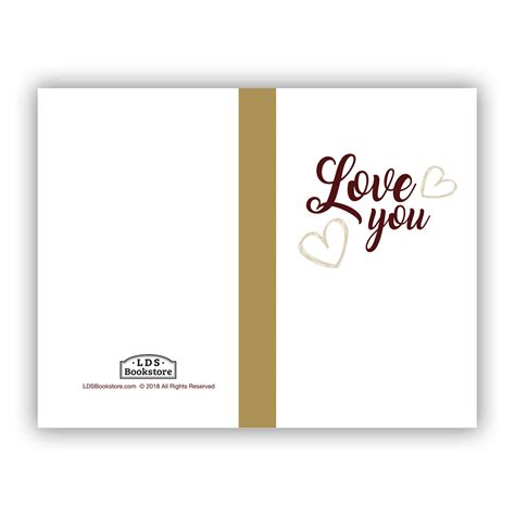 I Love You Valentine's Day Cards Printable Free