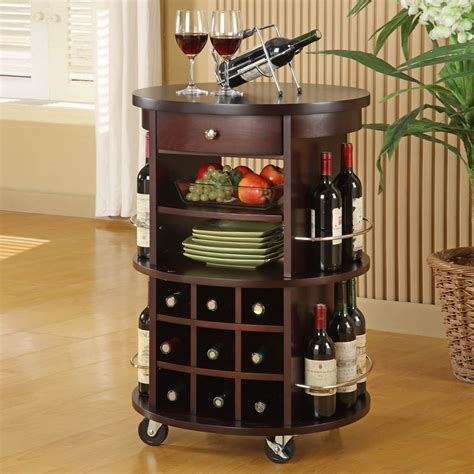 Home Bar Canada by Monarch Specialties I 3382 Wine Rack Bar Cart With Casters