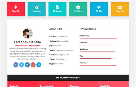 20 best cv resume and personal html bootstrap templates