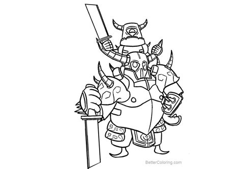 clash royale coloring pages black  white