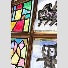 Art & Design For Kids Faux Stained Glass  Babble Dabble Do
