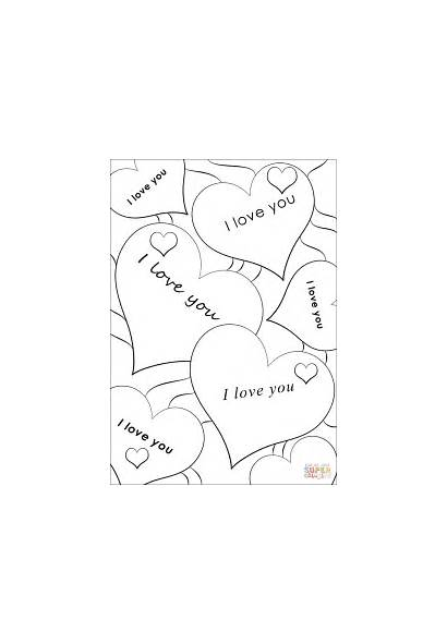 Coloring Pages Hearts Printable Colouring Heart Cards