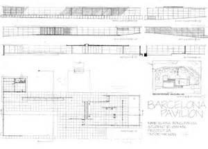 Barcelona Pavilion Plans Elevation Section