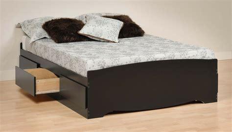 Bedroom Furniture Queen Storage Bed W/ 6 Drawers