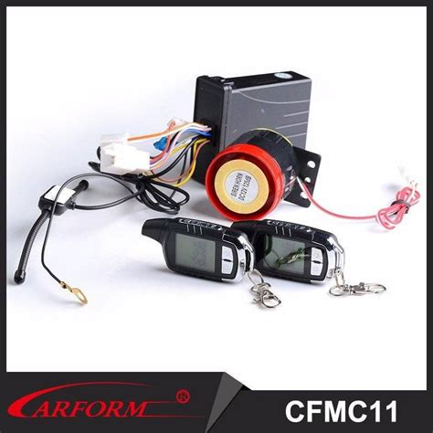 new arrival cost effective two way motorcycle alarm system with 2 lcd remotes mc11