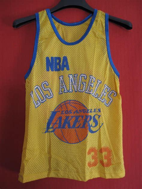 Maillot Basket Los Angeles NBA Lakers vintage années 80 ...