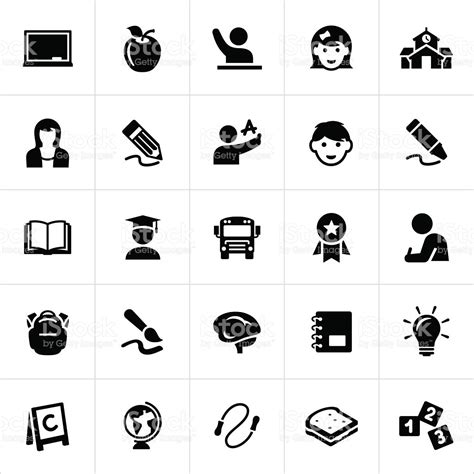 15016 resume icon white early childhood education icons stock vector more