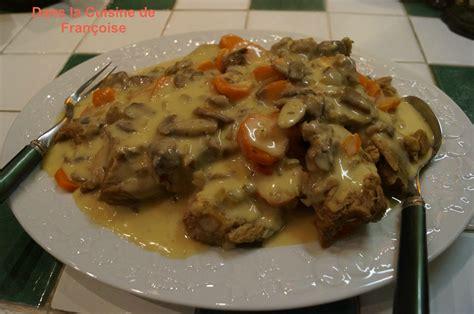 cuisiner une blanquette de veau blanquette de veau dans la cuisine de françoise