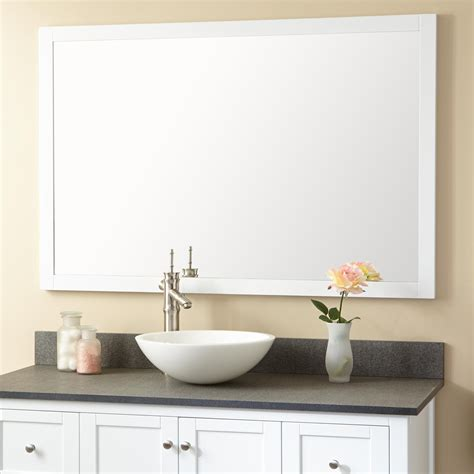 everett vanity mirror white framed mirrors bathroom