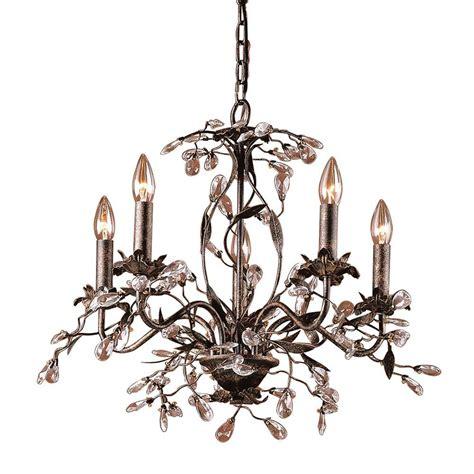 ceiling mount chandelier titan lighting circeo 5 light rust ceiling mount