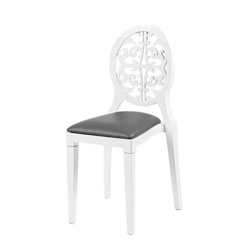 chaise blanche et grise chaise baroque blanche et grise