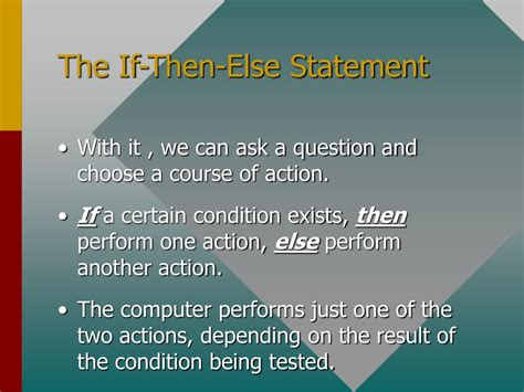 PPT - The If Then Else Statement Using C++ PowerPoint ...