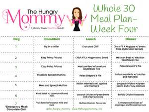 Whole 30 Meal Plan Week